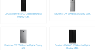 Dawlance Refrigerator Price In Pakistan 2019 Small Size, Medium Size, Full Large Size