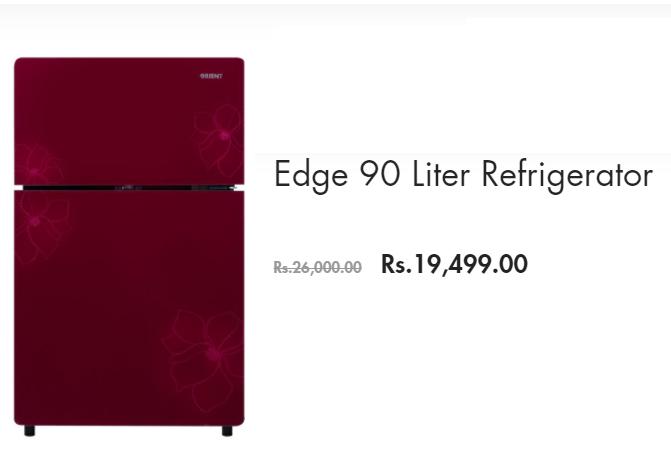 Orient Edge 90 Refrigerator Price In Pakistan 2019 New Fridge Model