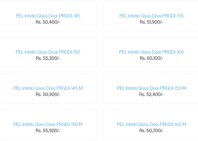 PEL Fridge Price in Pakistan 2019 Full Size, Medium Size and Small Size